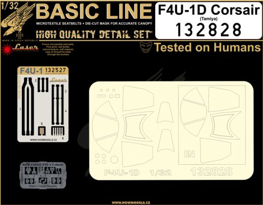 HGW 1/32 F4U-1D Corsair BASIC LINE: Seatbelts & Masks # 132828