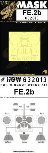 HGW 1/32 Fe.2b Paint Mask # 632013