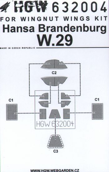 HGW 1/32 Hansa-Brandenburg W.29 Paint Mask # 632004