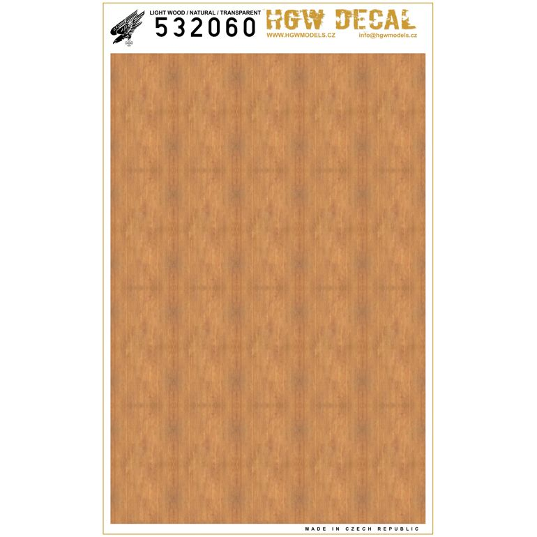 HGW 1/32 Light Wood - Natural Tone - Transparent A5 # 532060