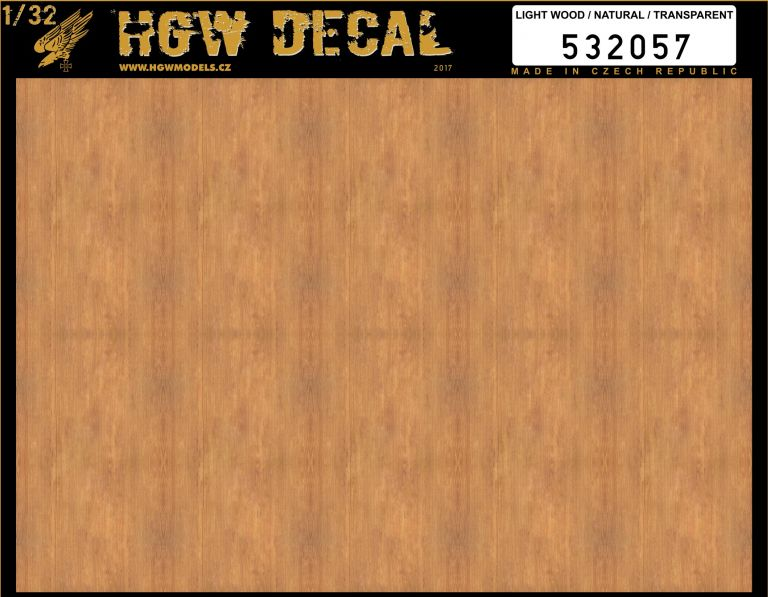 HGW 1/32 Light Wood - Transparent - No Grid A5 # 532057