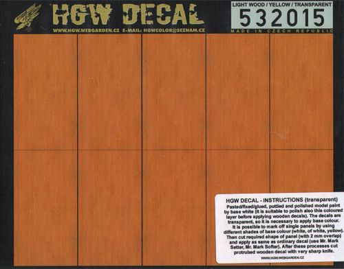 HGW 1/32 Light Wood / Yellow Transparent A5 # 532015