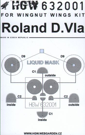 HGW 1/32 Roland D.VIa Paint Mask # 632001