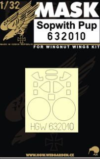 HGW 1/32 Sopwith Pup Paint Mask # 632010