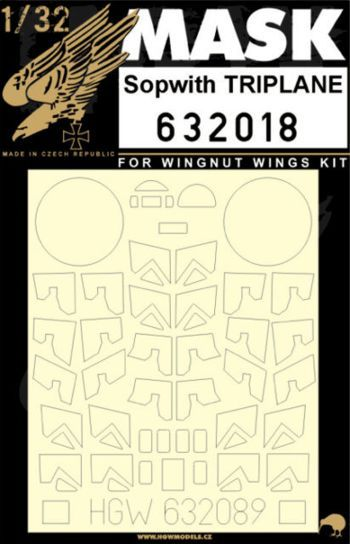 HGW 1/32 Sopwith TRIPLANE Paint Mask # 632018
