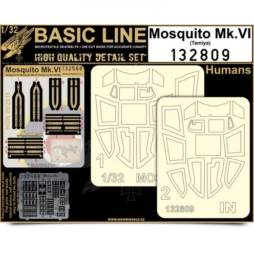 HGW 1/32 de Havilland Mosquito FB Mk.VI - Basic Line Seat Belts # 132809