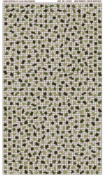 HGW 1/35 U.S. Camouflage Netting - 1940-60 - Spring # 135505