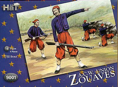 HaT 1/32 American Civil War Zouaves # 9001