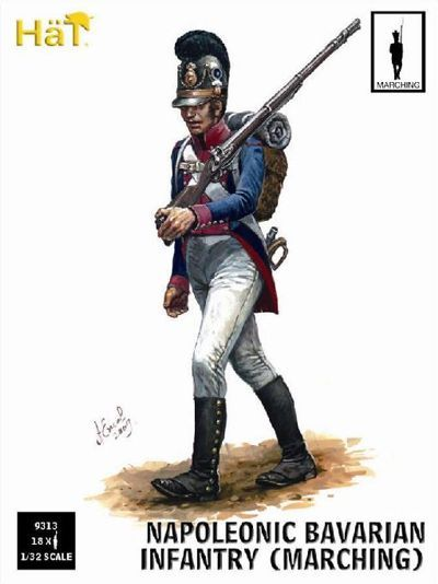 HaT 1/32 Napoleonic Bavarian Infantry Marching # 9313