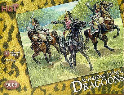 HaT 1/32 Napoleonic French Dragoons # 9009