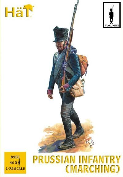 HaT 1/72 Napoleonic Prussian Infantry (Marching) # 8253