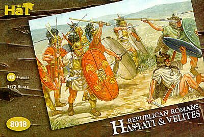 HaT 1/72 Republican Romans Hastati and Velites # 8018