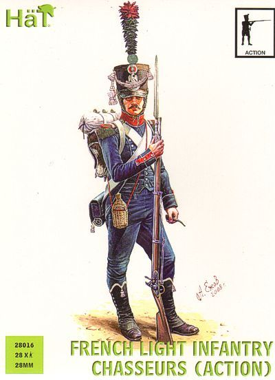 HaT 28mm Napoleonic French Chasseurs in Action # 28016