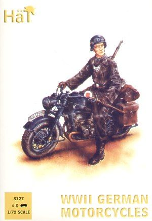 Hat 1/72 German Zundapp Motorcycles (WWII) # 8127