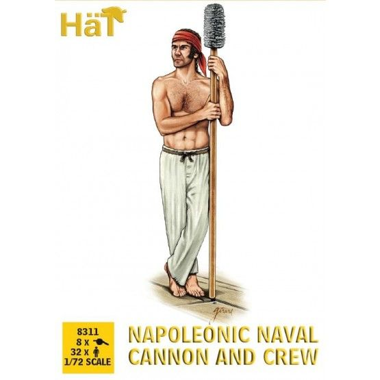 Hat 1/72 Napoleonic Naval Cannon and Crew # 8311