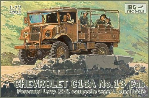IBG 1/72 Chevrolet C15A No. 13 Cab Personnel Lorry # 72013