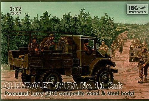 IBG 1/72 Chevrolet C15A No.11 Cab Personnel Lorry # 72017