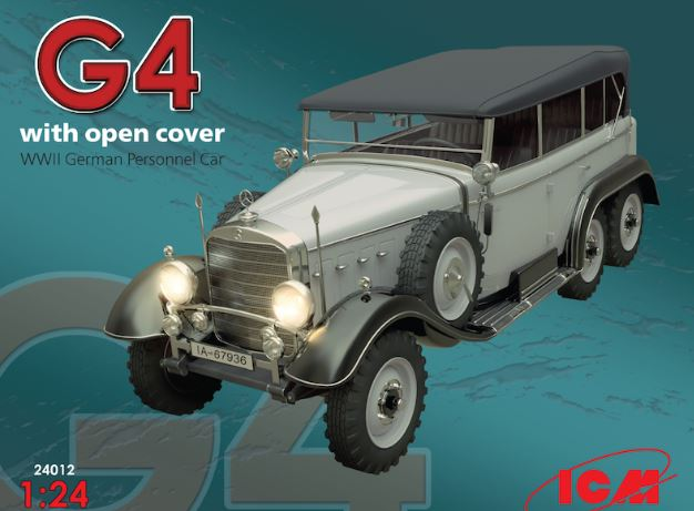 ICM 1/24 G4 with Open Cover WWII German Personnel Car # 24012