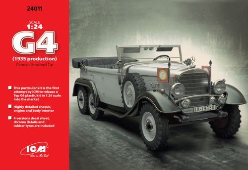 ICM 1/24 Typ G4 (1935 Production) German Personnel Car # 24011