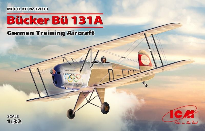 ICM 1/32 Bucker Bu-131A German Training Aircraft # 32033