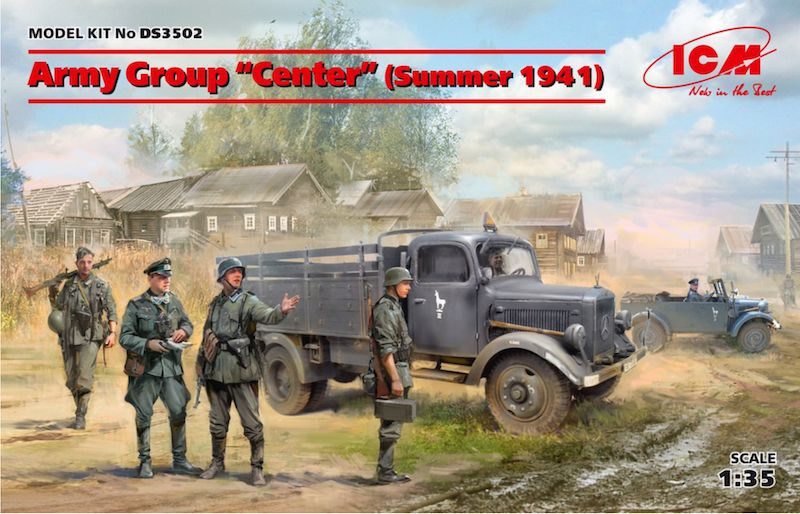 "ICM 1/35 Army Group ""Center"" (Summer 1941) Diorama Set # DS3502"