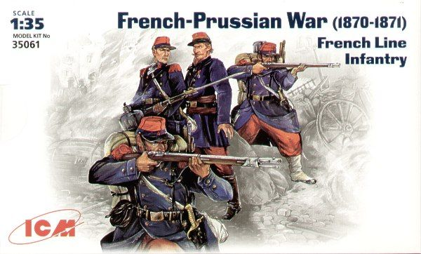 ICM 1/35 French Line Infantry 1870-71 Franco-Prussian War # 35061