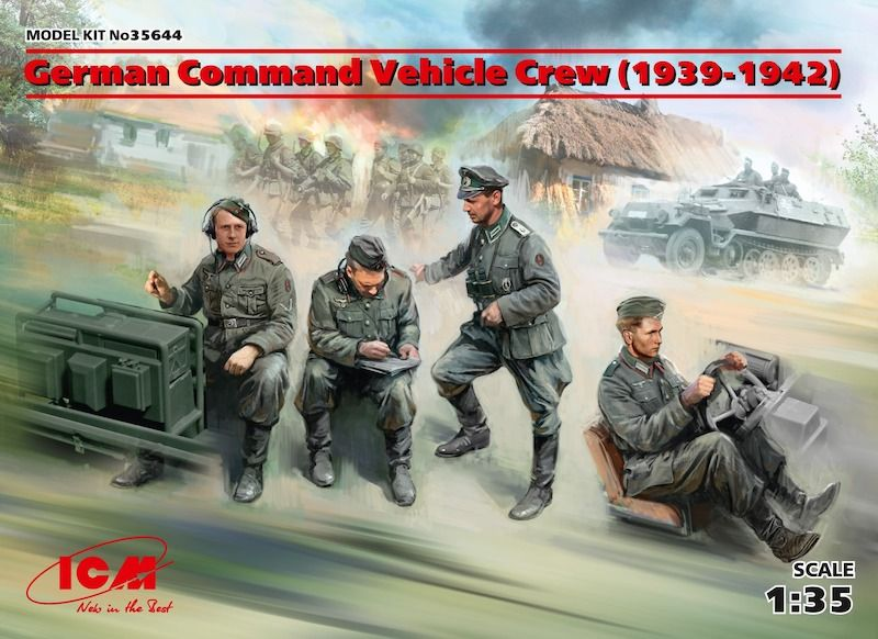 ICM 1/35 German Command Vehicle Crew (1939-1942) # 35644
