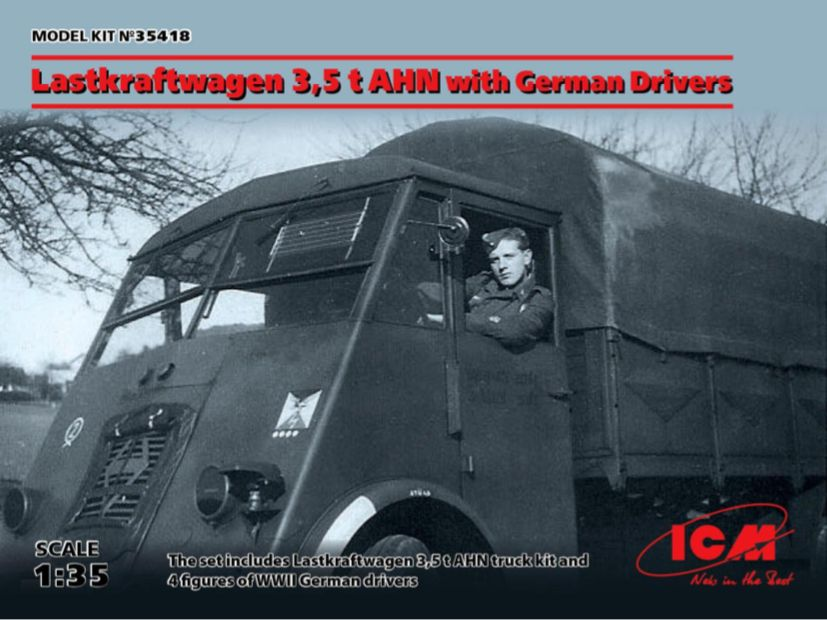 ICM 1/35 Lastkraftwagen 3,5 t AHN with German Drivers # 35418