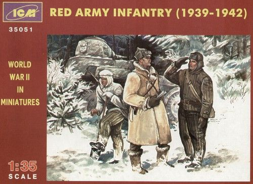 ICM 1/35 WWII Red Army Infantry 1939-1942 # 35051