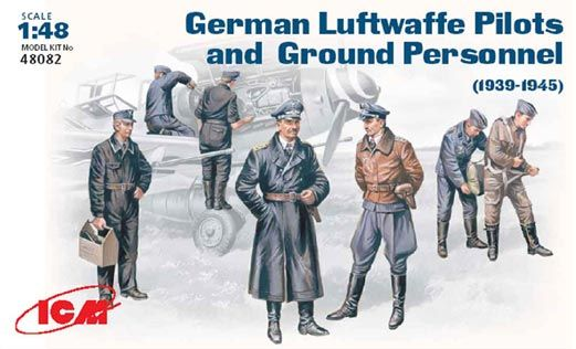 ICM 1/48 WWII Luftwaffe Pilots and Ground Personnel # 48082