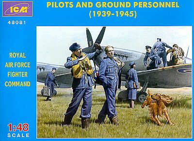 ICM 1/48 WWII RAF Pilots and Ground Personnel # 48081