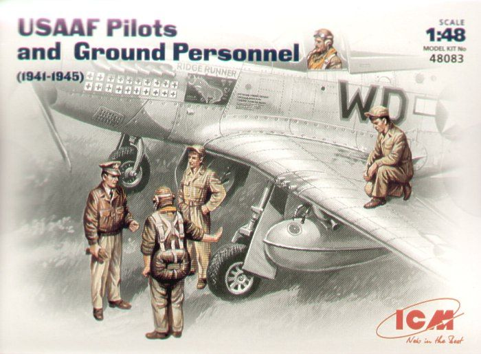 ICM 1/48 WWII USAAF Pilots and Ground Personnel 1941-45 # 48083