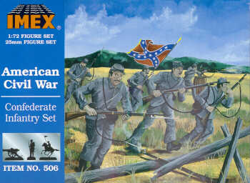 Imex 1/72 Confederate Infantry American Civil War # 506