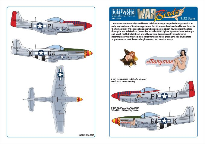 Kits-World 1/32 P-51D Mustang - 'Lullaby for a Dream - MaryMae' # 32122
