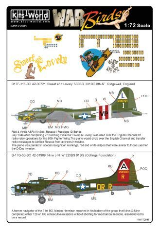 Kits-World 1/72 B-17 Flying Fortress # 72081