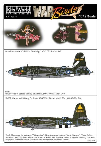 Kits-World 1/72 B-26B Marauder # 72076