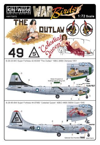 Kits-World 1/72 B-29 Superfortress # 72072