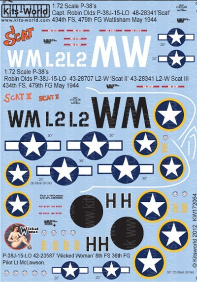 Kits-World 1/72 P-38J Lightning # 72064