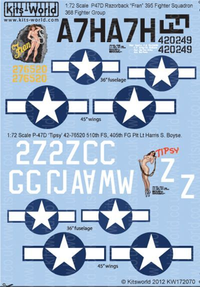 Kits-World 1/72 P-47D Thunderbolt # 72070