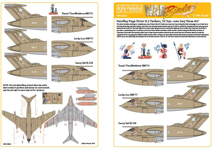 Kits-World Decals 1/144 Handley-Page Victors Over the Gulf Set 2 # 144053