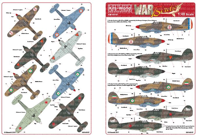 Kits-World Decals 1/48 Hawker Hurricane - Foreign Operators # 48167