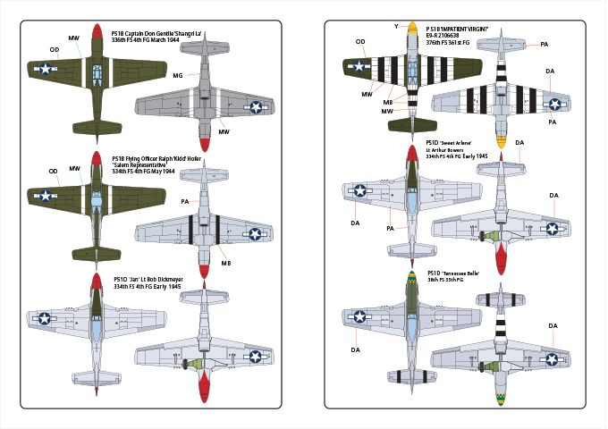 Kits-World Decals 1/72 North-American P-51B Mustang # 72179