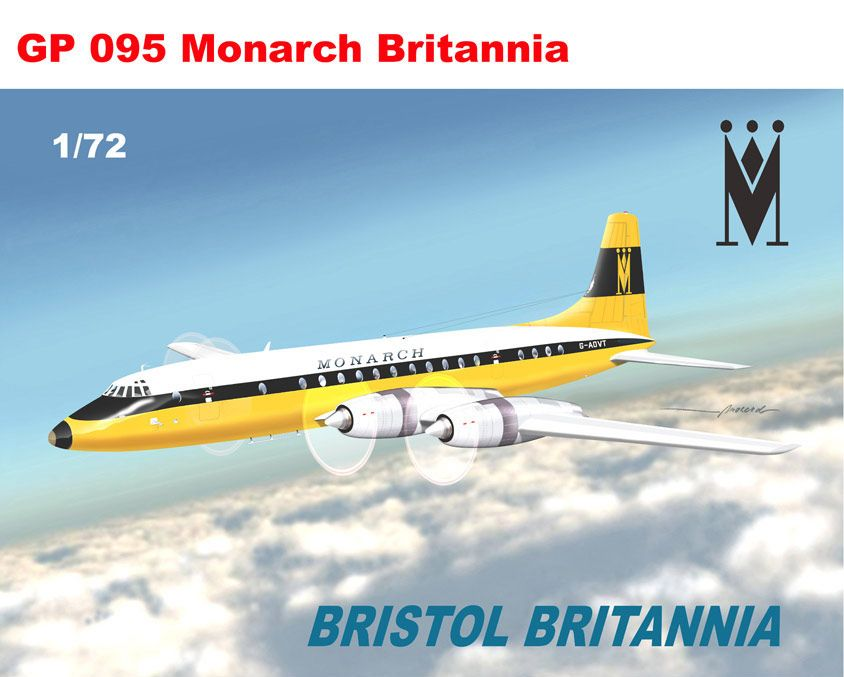 Mach 2 1/72 Bristol Britannia Monarch # GP095