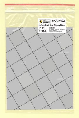 Mark I Models 1/144 WWII Luftwaffe Base Large Square Concrete Panels (Card & Paper) # 14402