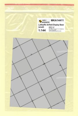 Mark I Models 1/144 WWII Luftwaffe Base Small Square Concrete Panels (Card & Paper) # 14411