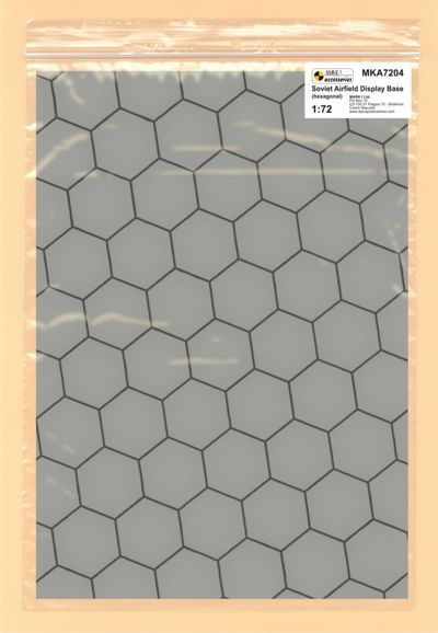 Mark I Models 1/72 Soviet Base Hexagonal Concrete Plates (Card & Paper) # 7204