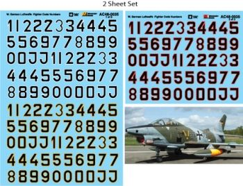 Microscale 1/72 German Luftwaffe Fighter Code Numbers (Black Fill) # MS72035
