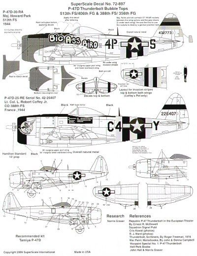 Microscale 1/72 Republic P-47D Thunderbolt 'Bubbletop' # SS72897