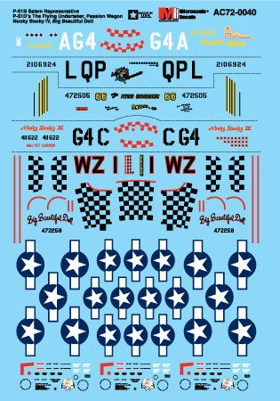 Microscale decals 1/72 P-51B and P-51D # MS72040