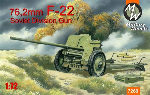 Military Wheels 1/72 Soviet 76,2mm F-22 Division Field Gun # 726